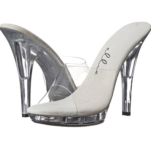 6811dc9b4a6 Clear Vinyl high heel mule
